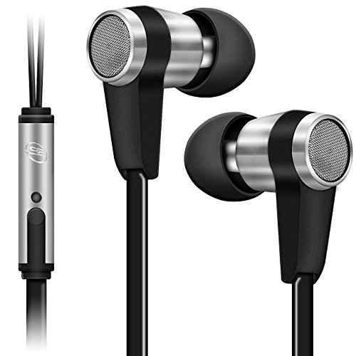 deleyCON SOUNDSTERS S20-M In-Ear Kopfhörer mit Mikrofon - 3,5mm Klinken Stecker 90° gewinkelt - hochwertige Sound- und Sprachqualität - innovatives Headset / Kopfhörer / Orhörer mit Mikrofon - Schwarz