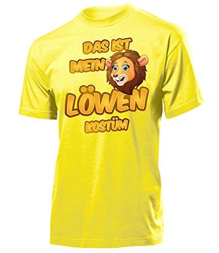 Löwen Kostüm Herren T-Shirt Löwenkostüm Männer 5254 Fasching Faschingskostüm Karnevalskostüm Tierkostüme Paarkostüm Gruppenkostüm Gelb ()