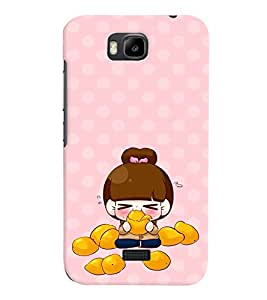 PRINTVISA Cute Cartoon Girl Case Cover for Huawei Honor Bee