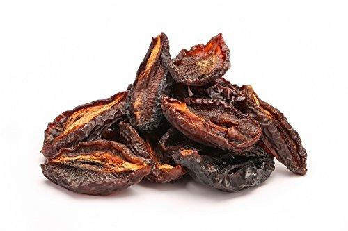 Bio Trockenpflaumen Hälften 1 kg echte Rohkost Dörrpflaumen halbiert, Pflaumen ohne Stein, nicht bedampft daher trocken, sonnengetrocknet, ohne Zuckerzusatz, ungeölt 1000g