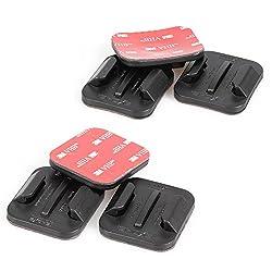 iSHOXS Klebepad Set mit 3M Klebeband für Sport und Action-Cams, enthält je 3 gerade und Gebogene Klebehalter