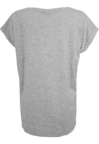 Urban Classics Damen T-Shirt Ladies Extended Shoulder Tee Grey