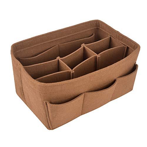 NOTAG Filz-Einsatz Tasche Taschenorganizer Handtasche Veranstalter Tasche In Tasche Multi Tasche Liner Organizer Passt Speedy Neverfull Für Tasche Und Handtasche, 4 Größe, 7 Farben (Schokolade, XL) -