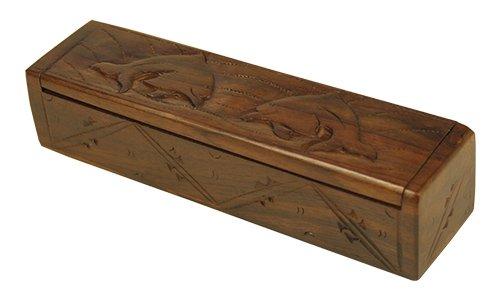 Madera spielerei pu1191–Caja de madera Delfín, largo