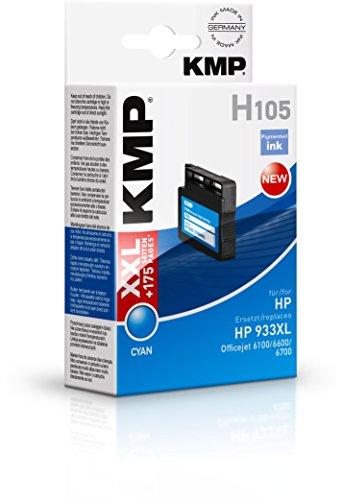 Preisvergleich Produktbild KMP Tintenkartusche für HP Officejet 6100/6600/6700, H105, cyan