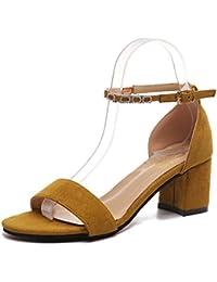 Sandali grigi con allacciatura elasticizzata per donna Gracosy ENABwDr