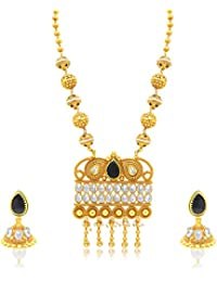 Sukkhi Stunning Gold Plated Long Haram Necklace Set For Women