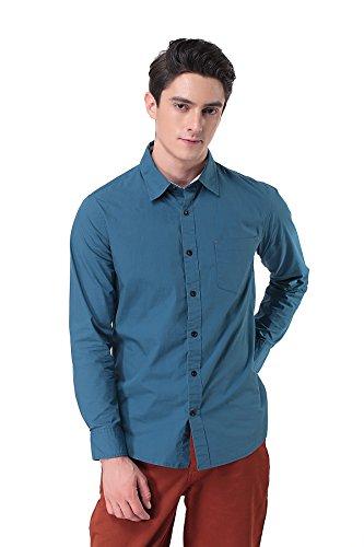 Pau1hami1ton p-12 camicia flanella manica lunga uomo casual slim fit business formal shirt(s,blu)