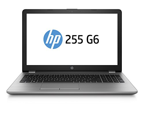 HP 255 G6 SP 2UC27ES 39,6 cm (15,6 Zoll FHD) Notebook (AMD A6-9220 APU, 8GB RAM, 256GB SSD, AMD Radeon Grafik, DVD, Windows 10) grau