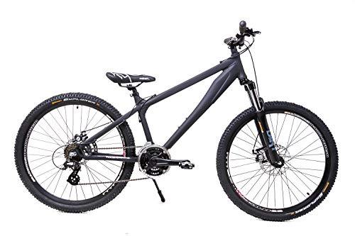 26 Zoll Alu Dirt Bike MTB Fahrrad Shimano Scheibenbremsen Disc Continental black