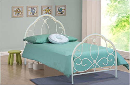 3FT SINGLE METAL BED WHITE ALEXIS MODEL BEDROOM FURNITURE