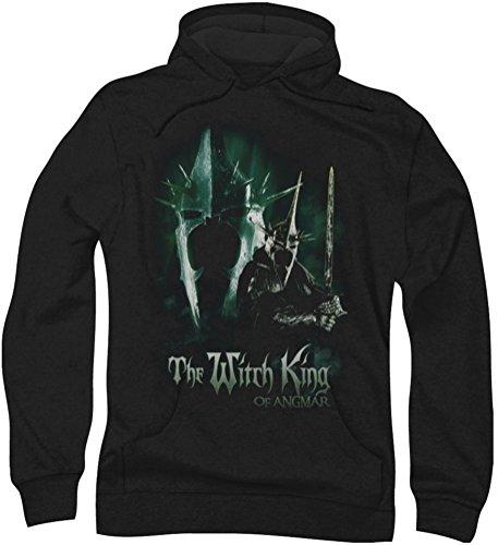 Lord of the Rings - Herren Hexenkönig Hoodie, XXX-Large, Black (Sauron Helm Kostüm)