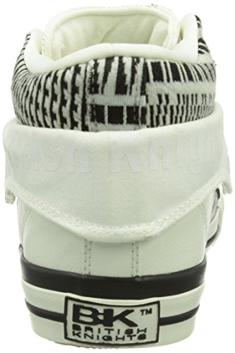 Weiß white Damen Knights British black01 Roco Hohe Sneakers 7xpXxZqw