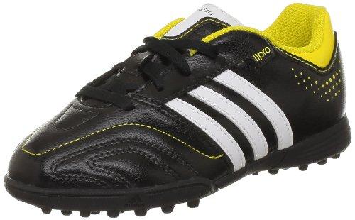 adidas Performance 11Questra TRX TF J Q23873 Jungen Fußballschuhe Schwarz (BLACK 1 / RUNNING WHITE FTW / VIVID YELLOW S13)