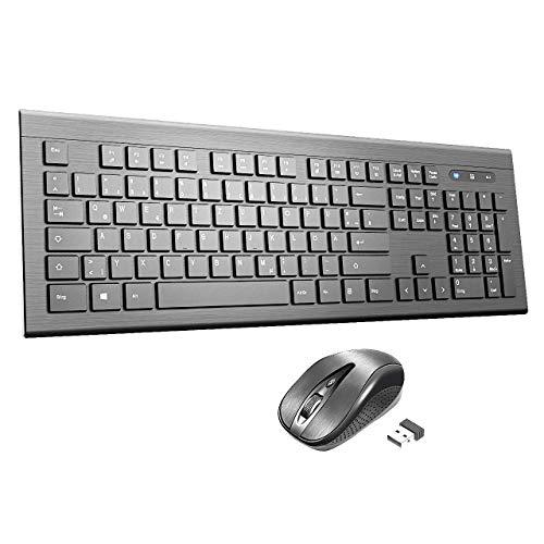 PC Maus, TOPELEK Laptop Maus Schnurlos 2.4 G 2400 DPI Wireless Drahtlose Mouse Optical Business Mouse USB Funkmaus Optische Mäuse 6 Tasten Für iMac Macbook Microsoft Pro, Office, Home -
