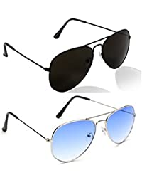 Criba Anti-Reflective Aviator Unisex Sunglasses - (CFR 8596|50|BBlue Color)