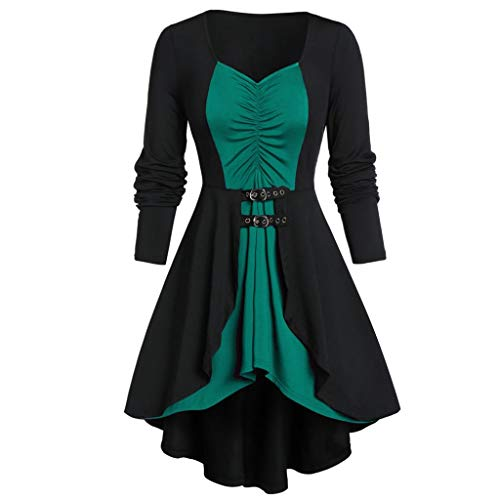 LILICAT Damen Casual Bluse Retro Langarm Oberteile Plus Size Shirts Tunika Tops Mantel Eleganter Smoking Blazer Vintage Unregelmäßige Tailcoat Viktorianischen Langer - Baker's Frau Kostüm