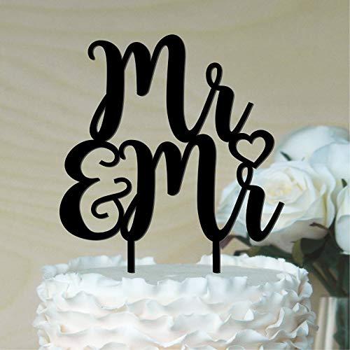 Queen54ferna Mr Mr Cake Topper Gay Wedding Cake Topper (Gay Wedding Topper Cake)