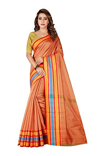 Indian Bollywood Wedding Saree indisch Ethnic Hochzeit Sari New Kleid Damen Casual Tuch Birthday Crop top mädchen Cotton Silk Women Plain Traditional Party wear Readymade Kostüm (Peach) -