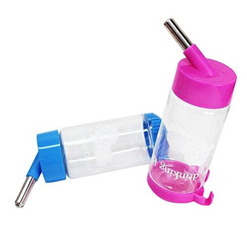 s-lifeeling Aufhängen Automatische Pet Wasser Futterstationen in Hand Tropfsichere Kleine Pet Flasche 500ml, 16,9oz automatisch Füttern Wasser