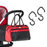 Hauck Hook Me Kinderwagen Karabiner Haken, für Handtaschen, Kinderwagen Taschenhaken, Anhänger für Kinderwagen, Universalhaken, 2 Stück