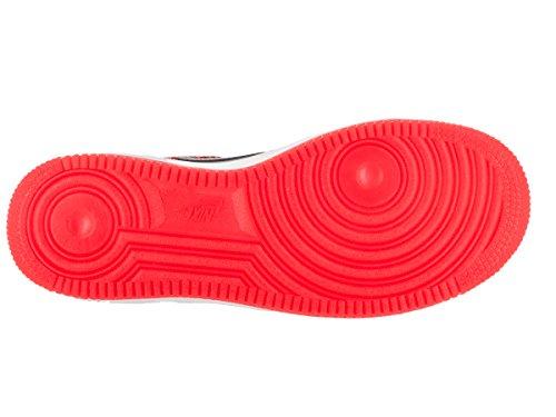 Nike Jungen Air Force 1 Premium (Gs) Basketballschuhe Orange / Schwarz / Weiß (Bright Crimson / Obsidian-White)
