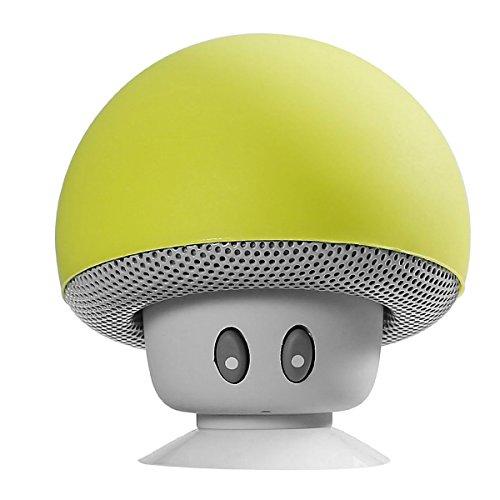 Descripción Este es un altavoz Bluetooth inalámbrico portátil en forma de hongo. La calidad de sonido superior, sonido estéreo limpio, nítido y nítido le proporciona un sonido estéreo de alta definición con una impresionante experiencia de volumen. U...