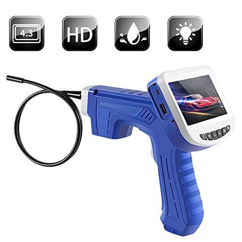 Cacoffay 4,3 Zoll Hochauflösend Industrie Endoskop Handheld Inspektion Kameras 3 M Schlange Tube Auto Luft Konditionierung Inspektion Endoskop