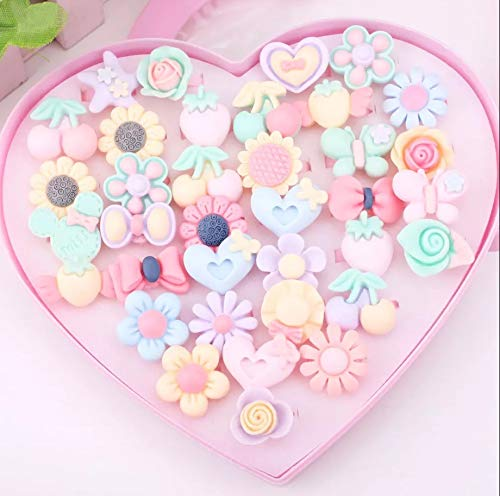 72 x CUTE RINGS 2 DISPLAY HEART BOXES ADJUSTABLE SIZE JOB LOT WHOLESALE UK