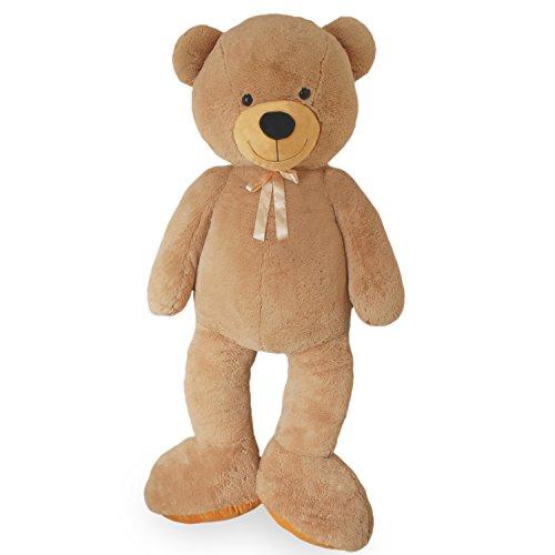 (VERCART Riesen Teddybär Kuschelbär XXL 160 cm groß Plüschbär Kuscheltier samtig weich - zum liebhaben)