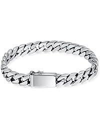809b1756d6bee Aienid Bracelet Montre Homme Bracelet Argent Homme 925 Bracelet Gourmette