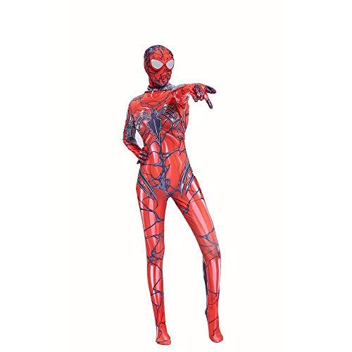 Damen Kostüm Venom - POIUYT Rote Gwen Lady Spider-Man Strumpfhose Damen Kostüm Party Venom Venomous Avenger Strumpfhose (S-XXXL),Child-XXXL