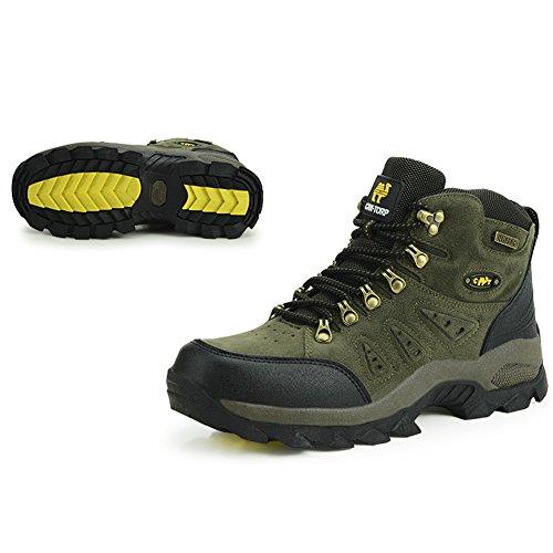 Outdoors borderline stivali impermeabili da escursionismo da uomo & da donna e trekking scarpe basse, Swamp Paese, Verde Militar, 39 EU
