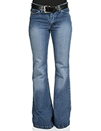 Damen Jeans Schlaghose Star used washed Reloaded