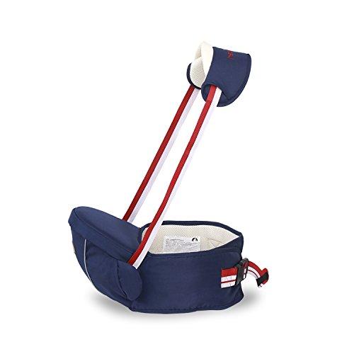 SONARIN Multifunktionaler Hipseat Baby Carrier Babytrage, einfach zu transportieren und einfach Mama, freie Größe, Kleinkind-Hüft-Sitzträger, vorderer Träger-Gurt, 4 tragende Positionen, gemütlich und beruhigend für Babys, angepasst an Ihr Kind wachsende, 100% GARANTIE und KOSTENLOSE LIEFERUNG, ideales Geschenk(Dunkelblau)