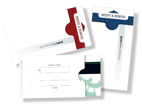 """50 Stück Kartenhüllen für Schlüsselkarten / Hotel-keycards /// Design: \""""personal keycard\"""""""