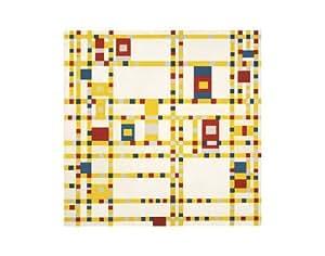Reproduction d'art 'Broadway Boogie Woogie', de Piet Mondrian, Taille: 36 x 28 cm