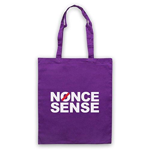 Inspiriert durch Brass Eye Nonce Sense Inoffiziell Umhangetaschen Violett