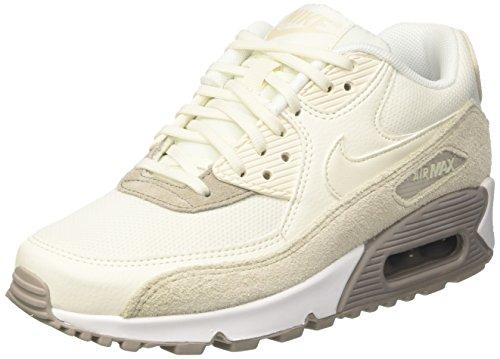 Nike Women's Air Max 90 Trainers, White (Light Orewood Brown/Sail-Cobblestone-White), 7 UK...