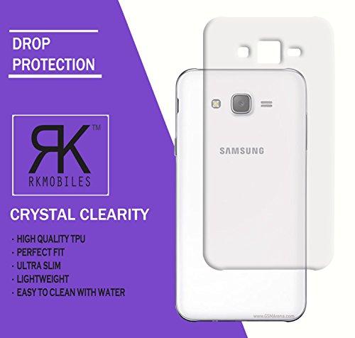 Samsung Galaxy J7 2015 Ultra Thin 0.3mm Clear Transparent Flexible Soft TPU Slim Back Case Cover (For Samsung Galaxy J7 2015 )