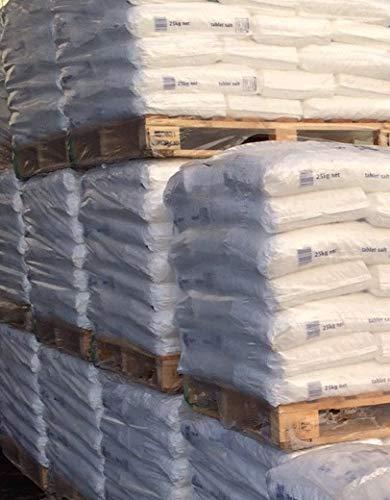 XXL Palette Salztabletten/Salzkissen/Regeneriersalz/Salz Pastillen für Wasserenthärtungsanlagen und Schwimmbäder 1225 kg - (49 x 25kg) BUNDESWEIT GELIEFERT (Inseln ausgeschlossen.)