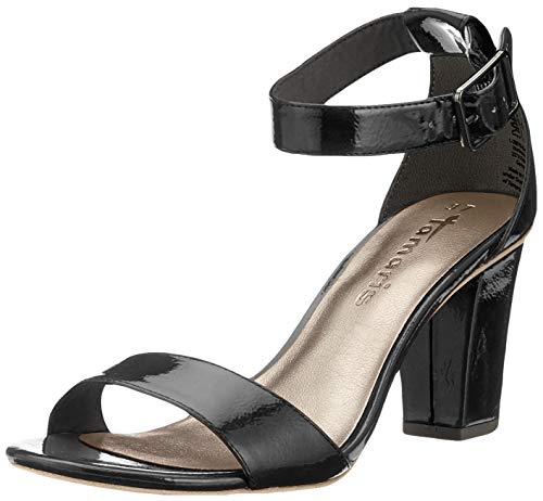 Tamaris Damen 1-1-28018-22 Riemchensandalen, Schwarz (Black PATENT 18), 38 EU 1 Black Patent Schuhe