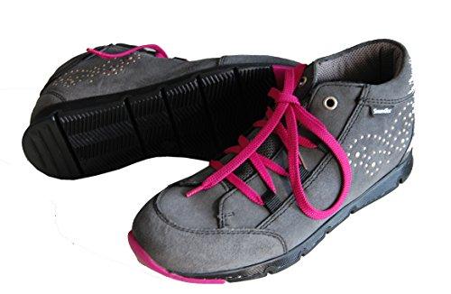 Däumling Mädchen Schuhe, hohe Schuhe, Sneaker, Herbstschuhe grau (Turino smoked pearl)