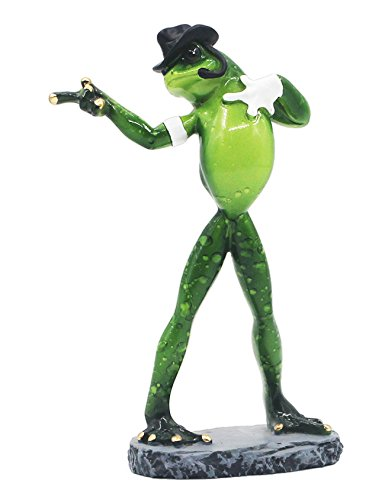 RAIKOU Moralische Integrität Frosch/Yoga Frosch, Schlafzimmer/Wohnzimmer /Fensterbank/Dekoration des Arbeitszimmer,Harz, Grün ,unterschiede Stil-115010 (Michael Jackson Frosch (Michael Jackson Dekorationen)
