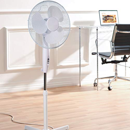 410aPP%2BEF4L. SS500  - Daewoo 16-Inch Pedestal/Stand, Portable Fan for Home or Small /Large Office, 3 Speed Settings, Sturdy Base, Easy-to-Use…