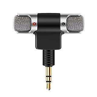 AOZBZ Tragbare Mini-Mikrofon Tragbare Mini Digital Stereo Mikrofon Recorder für Smartphone mit 3,5mm Klinke Gerät Recorder