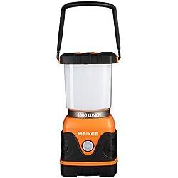 MEIKEE LED Camping-Lampe 9W 4 Modi 1000LM wasserdicht 6000K dimmbar Notbeleuchtung für Notfall Stromausfall