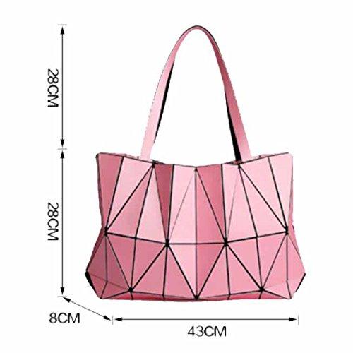 Der geometrischer Frauen Tragbare Handtasche White PU Sackt Beutel 2018 Ein Sommer Neu Mattes Beuteldiamant Große xZqw5Ft