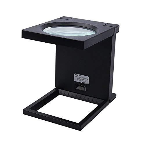 MASOSER Desktop-Lupe, HD Faltbare LED-Lupe für die Reparatur/Inspektion von Desktop- / Mobilgeräten - Eschenbach Led-hand-lupe