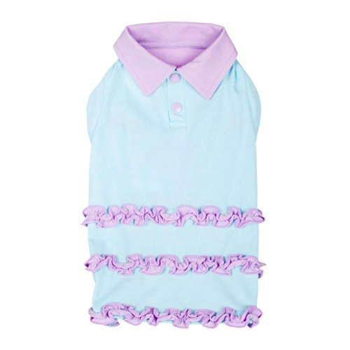 blueberry-pet-ruffle-polo-cotton-dog-dress-back-length-14-36cm-pack-of-1-clothes-for-dogs